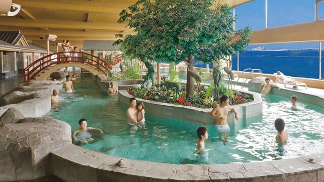 竜宮城スパホテル三日月 竜宮の湯