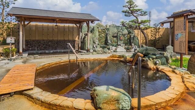 市原温泉 湯楽の里の露天風呂